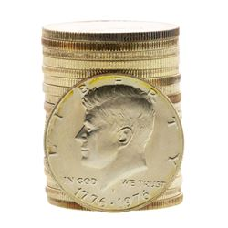 Roll of (20) Brilliant Uncirculated 1976-S Bicentennial 40% Silver Half Dollar C