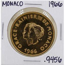 1966 Monaco 200 Francs 10th Wedding Anniversary Gold Coin