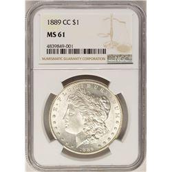 1889-CC $1 Morgan Silver Dollar Coin NGC MS61