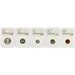 1936 (5) Coin Proof Set NGC Graded PF64/65