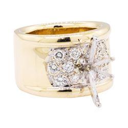 14KT Yellow Gold 0.60 ctw Diamond Semi Mount Ring