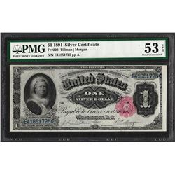 1891 $1 Martha Washington Silver Certificate Note Fr.223 PMG About Uncirculated