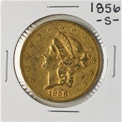 1856-S $20 Liberty Head Double Eagle Gold Coin