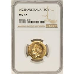 1921-P Australia Sovereign Gold Coin NGC MS62