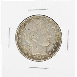 1908-D Barber Half Dollar Coin