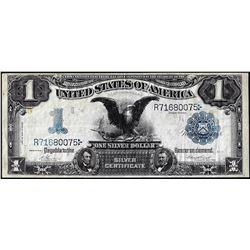 1899 $1 Black Eagle Silver Certificate w/ Reverse Annotation