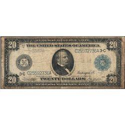 1914 $20 Federal Reserve Note Philadelphia - Split