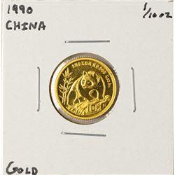 1990 China Panda 1/10 oz Gold Coin