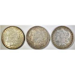 1897-P,O,S MORGAN DOLLARS XF-AU