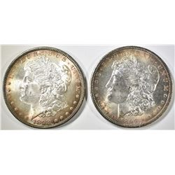 1898 & 99-O MORGAN DOLLARS CH BU COLOR