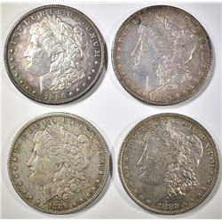4 MORGAN DOLLARS