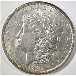 1891 MORGAN DOLLAR, BU