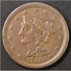 1855 HALF CENT   XF