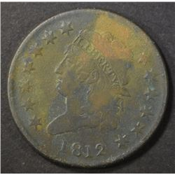 1812 LARGE CENT   VF  DARK