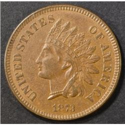 1873 INDIAN CENT   AU/BU