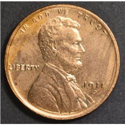 1911-D LINCOLN CENT   BU  RB