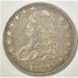 1821 BUST QUARTER  XF/AU