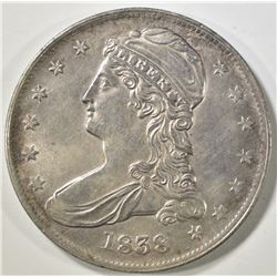 1838 REEDED EDGE BUST HALF DOLLAR  BU
