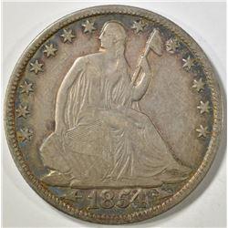 1854-O SEATED LIBERTY HALF DOLLAR  VF