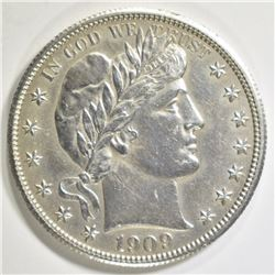 1909 BARBER HALF DOLLAR   AU/BU