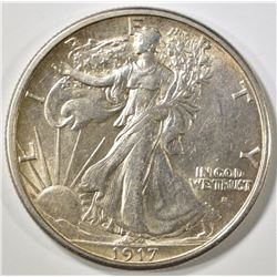 1917-S OBV WALKING LIBERTY HALF DOLLAR AU/BU