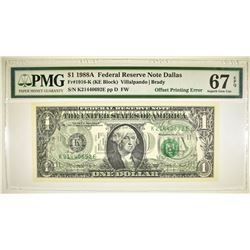 1988A $1 FRN DALLAS  PMG 67 EPQ