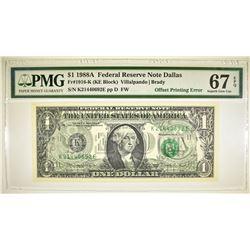 1988A $1 FRN DALLAS  PMG 67 EPQ
