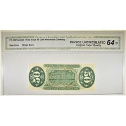 1863 3RD ISSUE 50 CENT FRACTIONAL CURRENCY