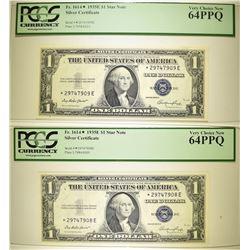 1935E $1 SILVER CERTIFICATES PCGS 64 PPQ