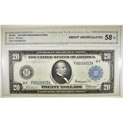 1914 $20 FRN  ATLANTA BETTER DISTRICT  CGA AU