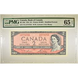 1954 $2 BANK OF CANADA   PMG 65 EPQ