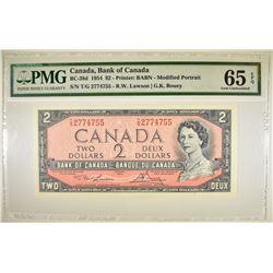 1954 $2 BANK OF CANADA   PMG 65 EPQ
