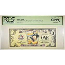 2009 $1 DISNEY DOLLAR  PCGS 67 PPQ