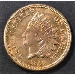 1861 INDIAN HEAD CENT  GEM BU