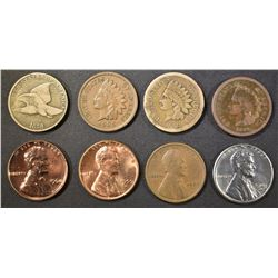 MIXED SMALL CENT LOT