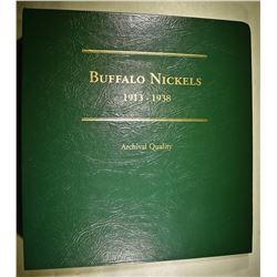 COMPLETE SET BUFFALO NICKELS 1913 THRU 38-D