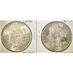 1896 & 1897 CH BU MORGAN DOLLARS