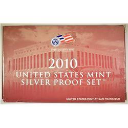 2010 U.S. SILVER PROOF SET IN ORIG BOX/COA