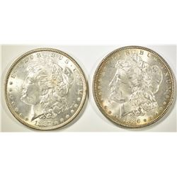 1886 & 1887 MORGAN DOLLARS  BU