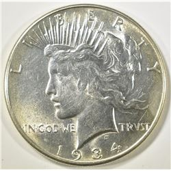 1934 PEACE DOLLAR  GEM BU