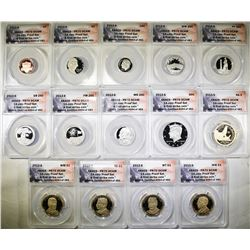 2013-S ANACS PR70 DCAM 14-COIN PROOF SET