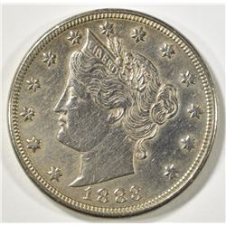 1883 LIBERTY NICKEL WITH CENTS  AU CLEANED