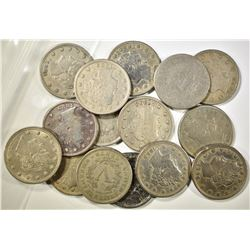 GROUP OF 15 LIBERTY NICKELS 1883-1899 GOOD - FINE