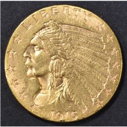 1915 $2.5 GOLD INDIAN HEAD   CH BU
