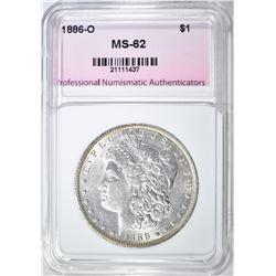 1886-O MORGAN DOLLAR, PNA BU