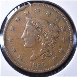 "1836 MATRON HEAD ""YOUNG HEAD"" VF"
