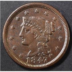 1847 LARGE CENT AU