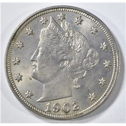 1902 LIBERTY NICKEL CH BU