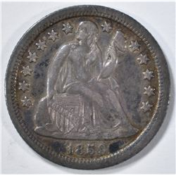 1859-O SEATED LIBERTY DIME XF