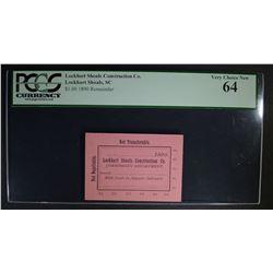 $1 COMMISSARY SCRIP 1890 LOCKHART SHOALS